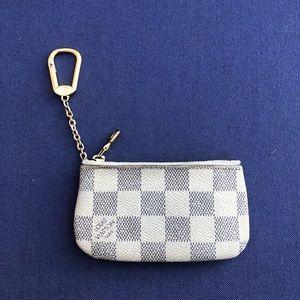 LOUIS VUITTON damier azure key pouch